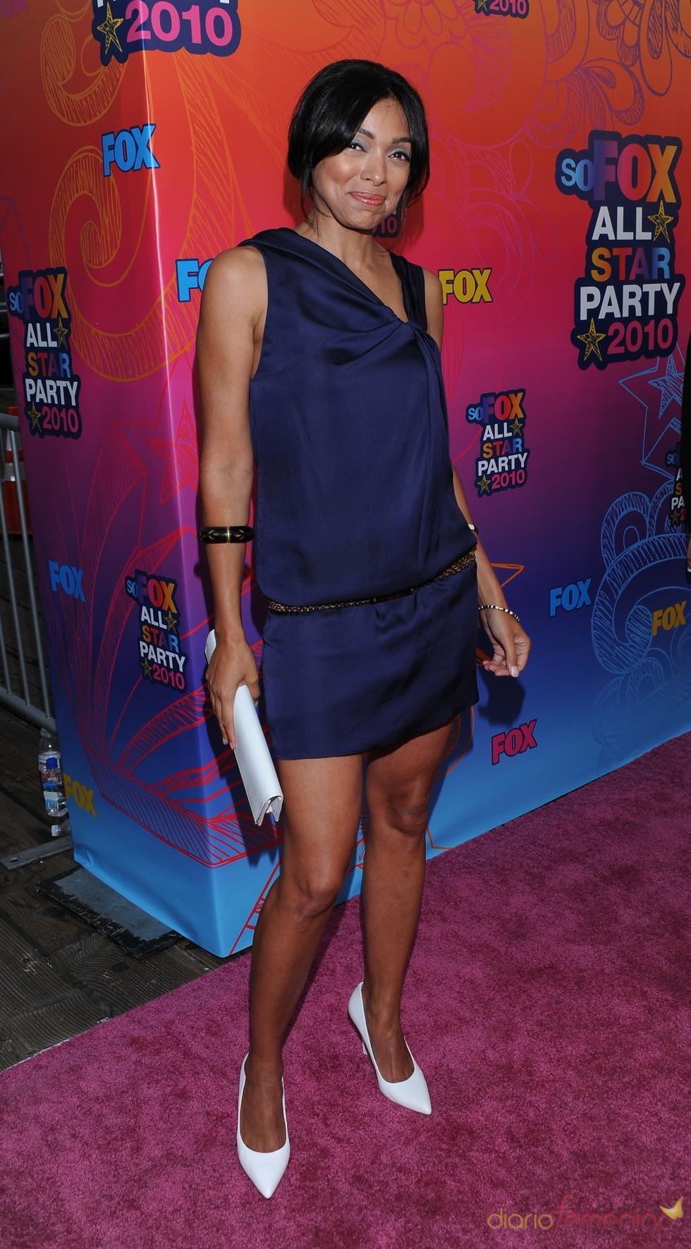 Tamara Taylor de 'Bones' en la fiesta All-Star de Fox