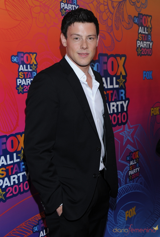 Cory Monteith llega a la fiesta All-Star de Fox