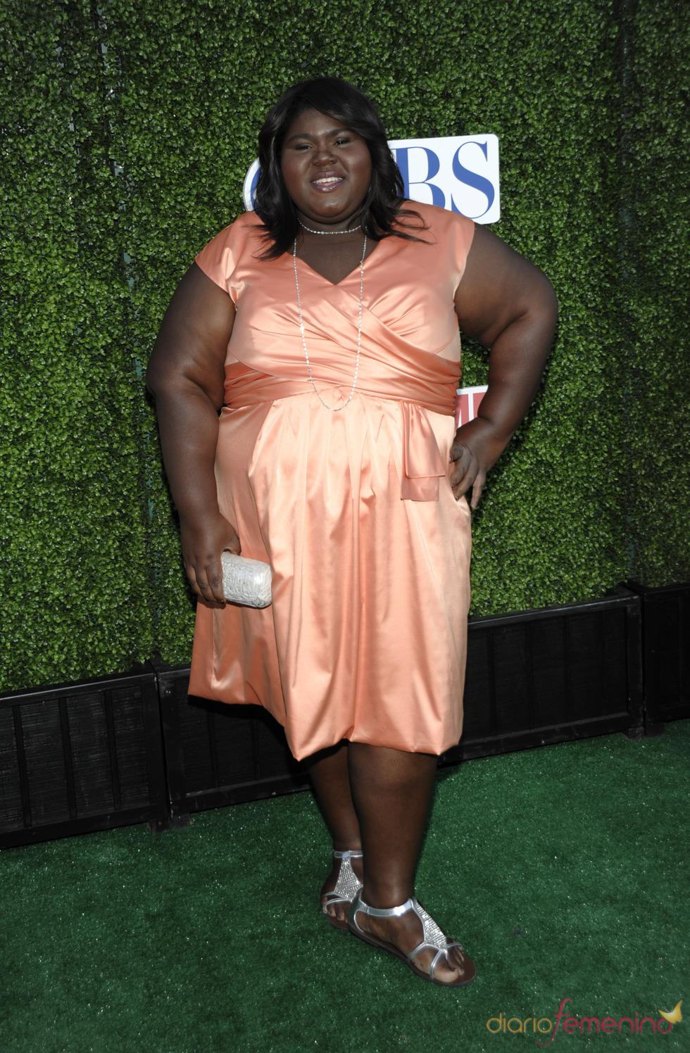Gabourey Sidibe en la fiesta de la CBS 2010