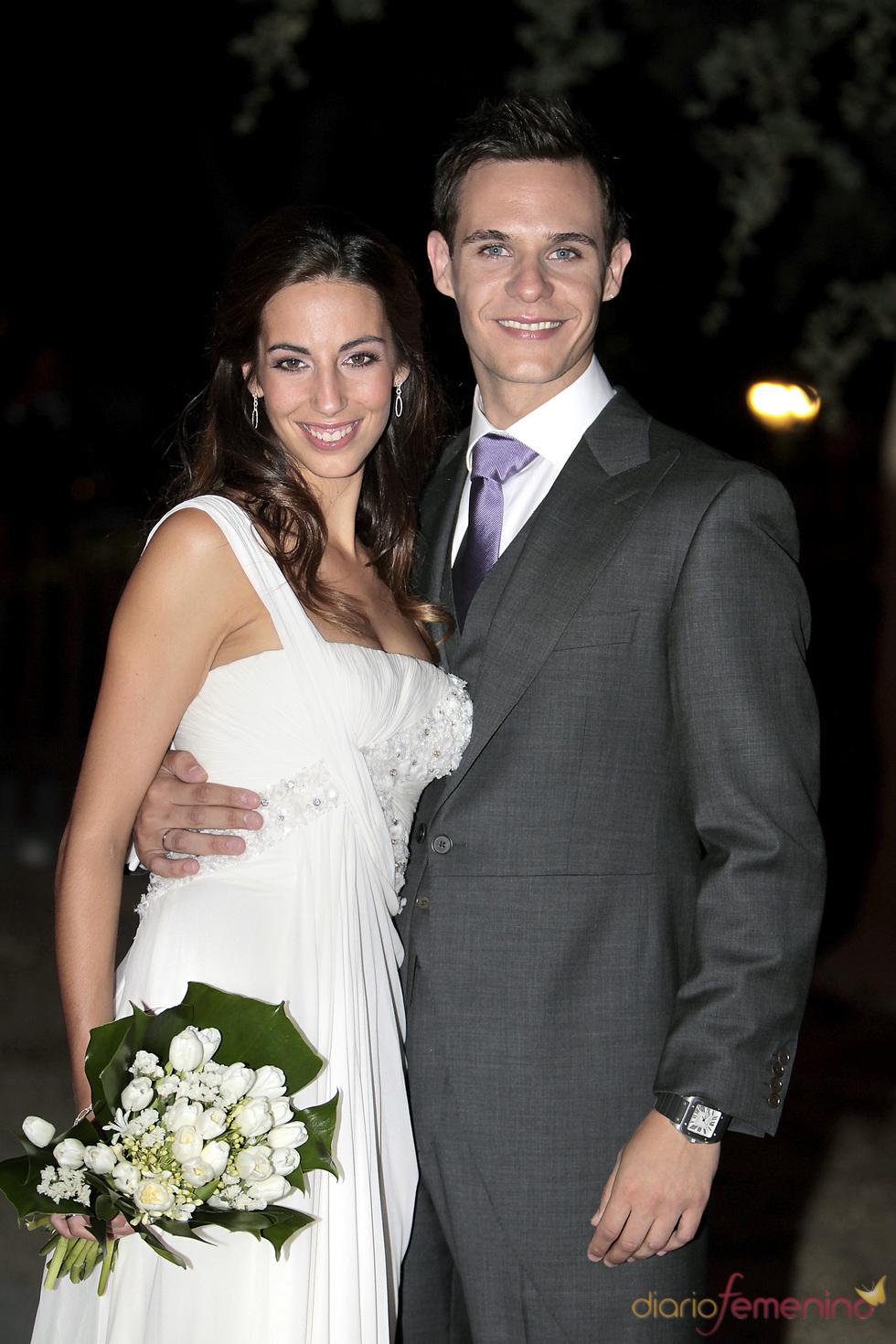 Almudena Cid y Christian ya convertidos en marido y mujer