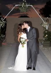 Almudena Cid y Christian Gálvez recién casados y muy enamorados