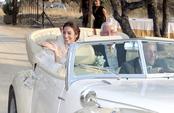 Almudena Cid llega a su boda en un Rolls-Royce