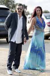 Dioni Martín llega a la boda de Christian Gálvez y Almudena Cid