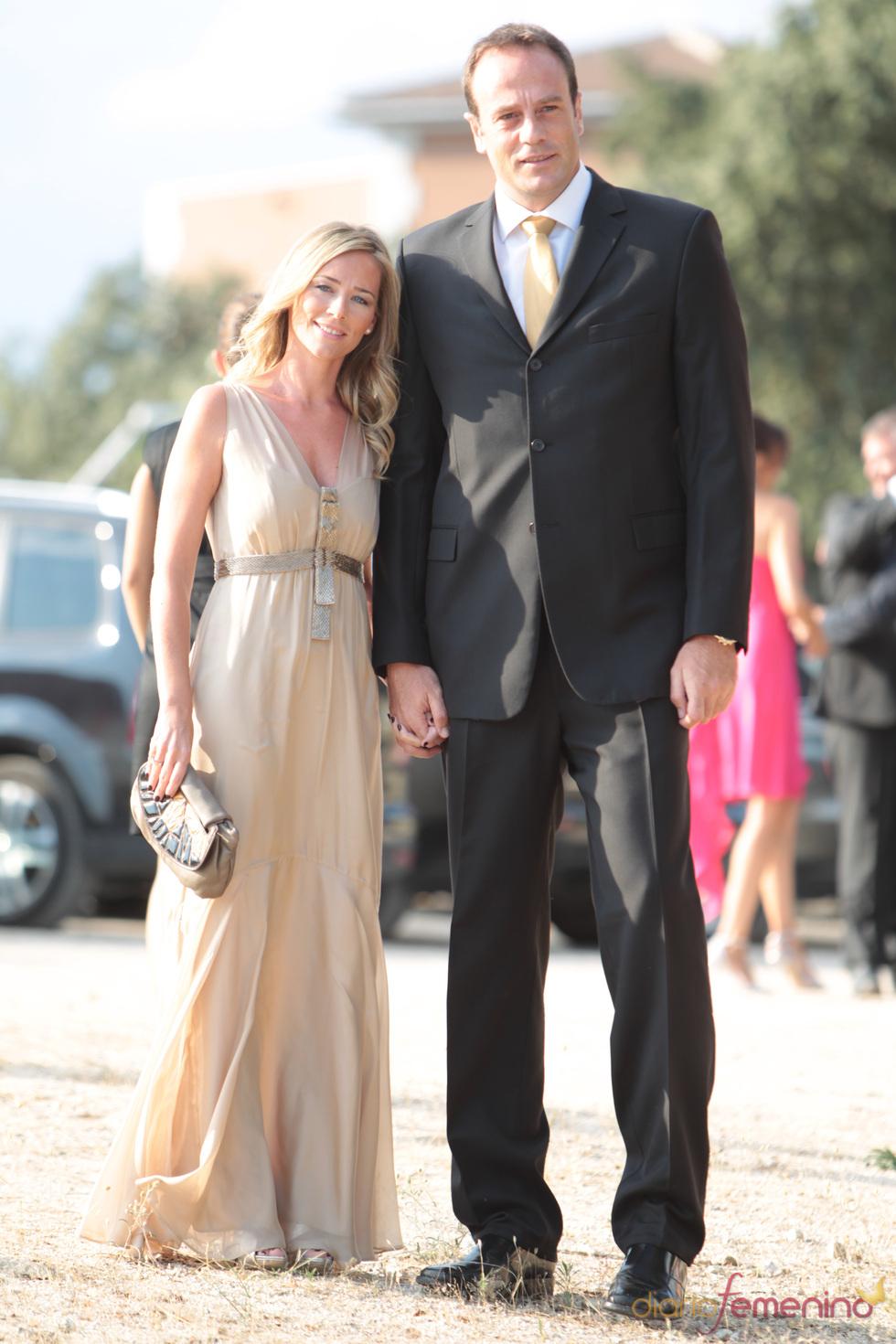 Fran Murcia a su llegada a la boda del presentador y la gimnasta