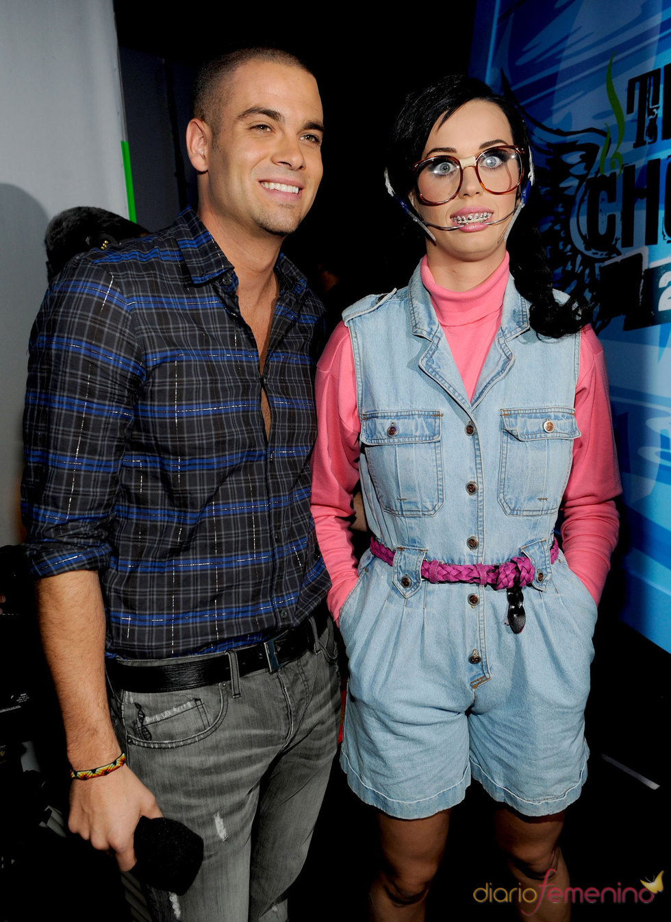 Katy Perry y Mark Salling de 'Glee' en el Teen Choice Awards 2010