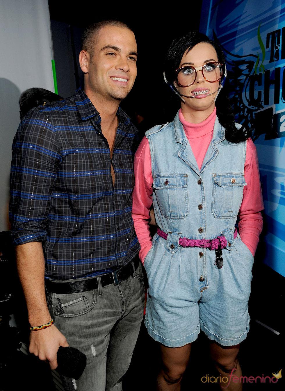 Katy Perry y Mark Salling de 'Glee' en el Teen Choice Awards 2010
