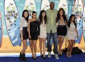 Lamar Odom junto con las hermanas Kardashian