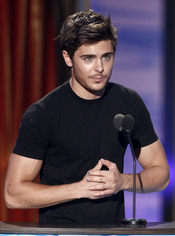 Zac Efron en los Teen Choice Awards 2010