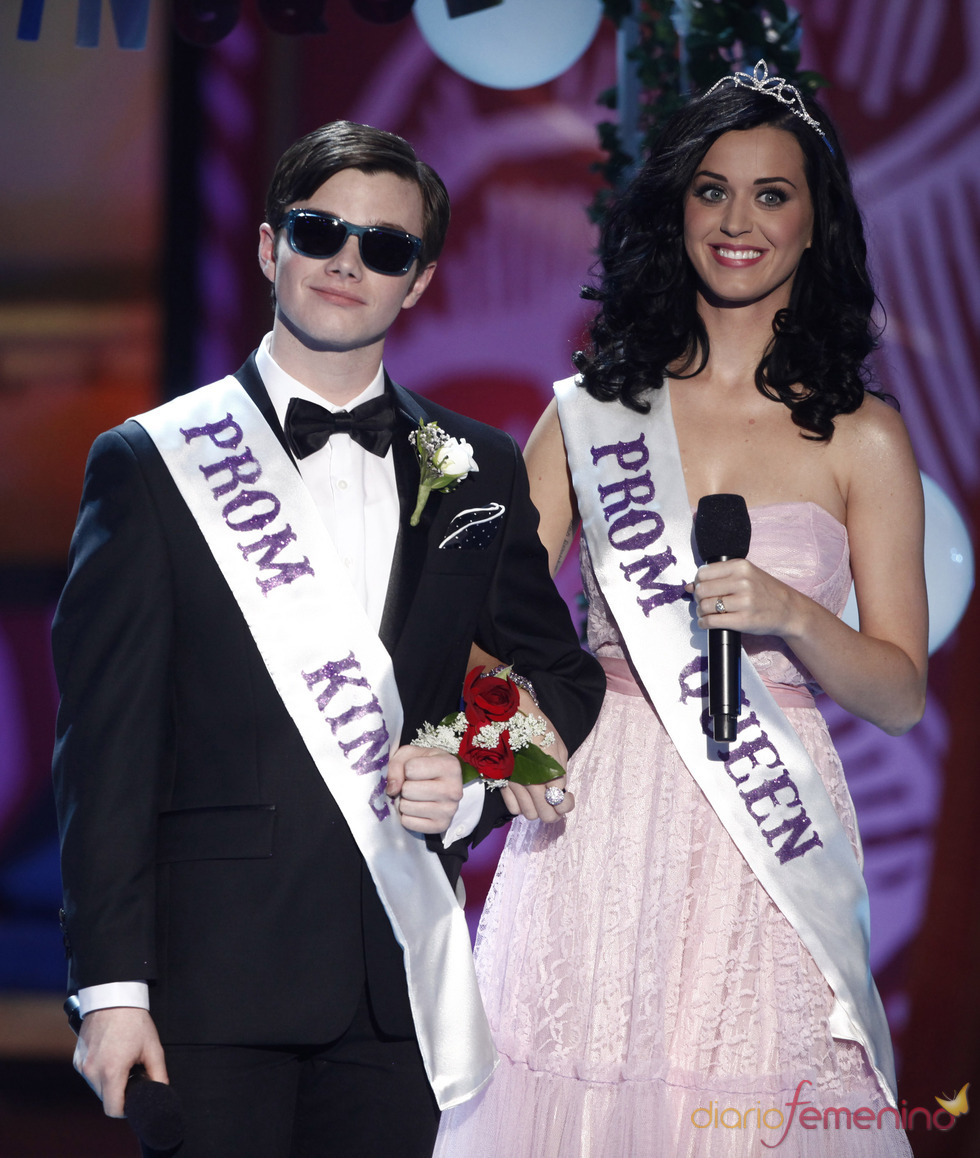 Chris Colfer y Katy Perry en los Teen Choice