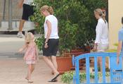 La infanta Cristina con su hija Irene en el puerto deportivo de Palma de Mallorca