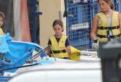Victoria Federica Marichalar aprende a navegar