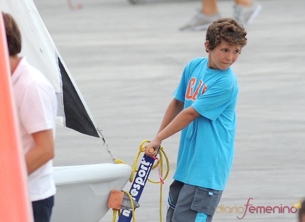 Felipe Juan Froilán Marichalar en el puerto deportivo de Palma de Mallorca