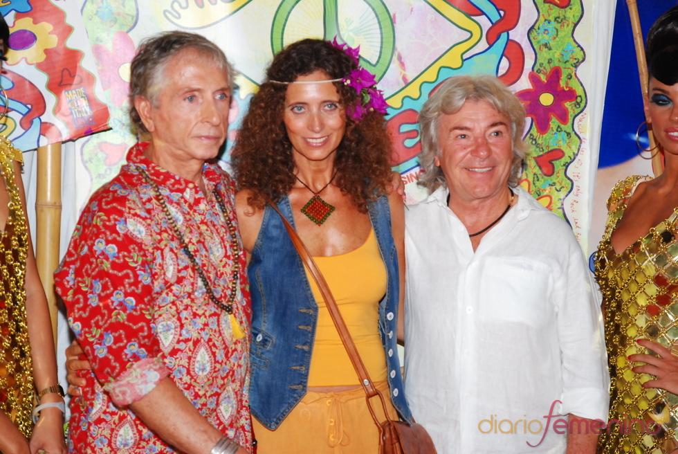 Ángel Nieto en la fiesta Flower Power de Ibiza