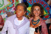 Valentino y Nati Abascal, en la fiesta hippy de Ibiza