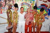 Sete Gibernau en la fiesta Flower Power de Ibiza
