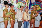 Eugenia Martínez de Irujo en la fiesta Flower Power de Ibiza