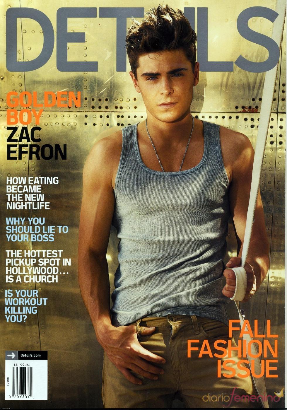 Zac Efron, portada de 'Details'