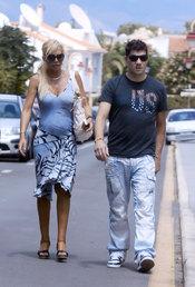 Belén Esteban con su marido Fran en Benidorm