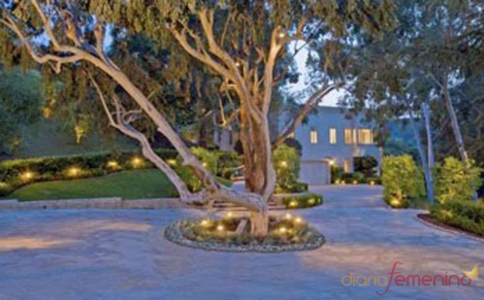 El jardín de la casa de Lady Gaga
