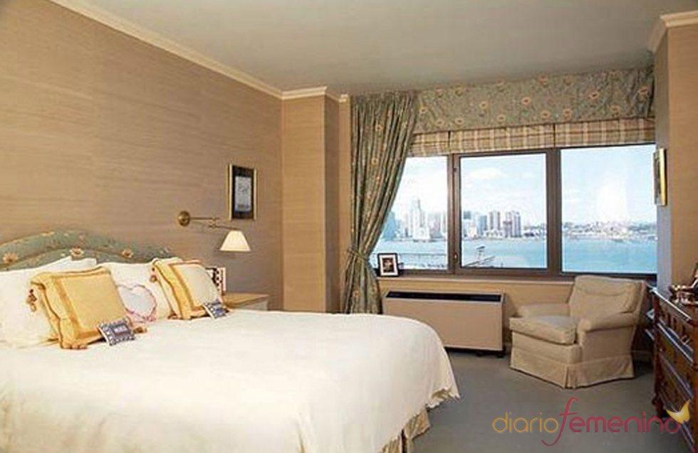 Dormitorio del apartamento de Daniel Radcliffe