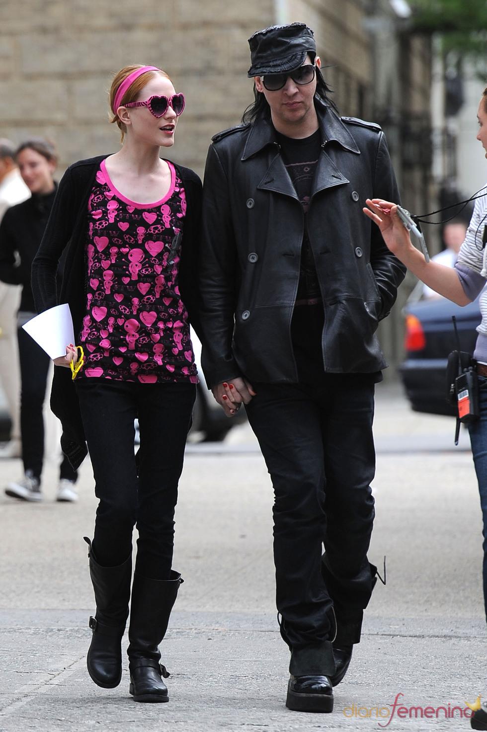 Marilyn Manson y Evan Rachel Wood rompen