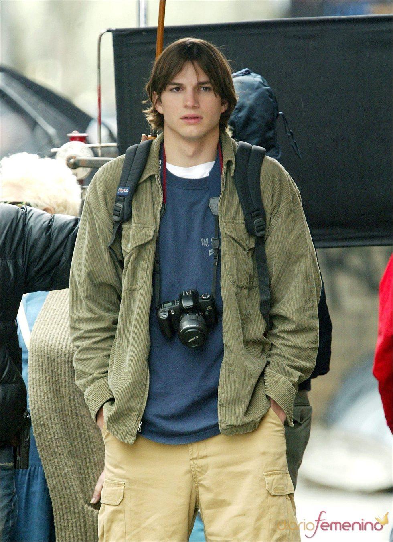 Ashton Kutcher con el pelo largo