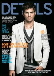 Ashton Kutcher en la portada de 'Details'