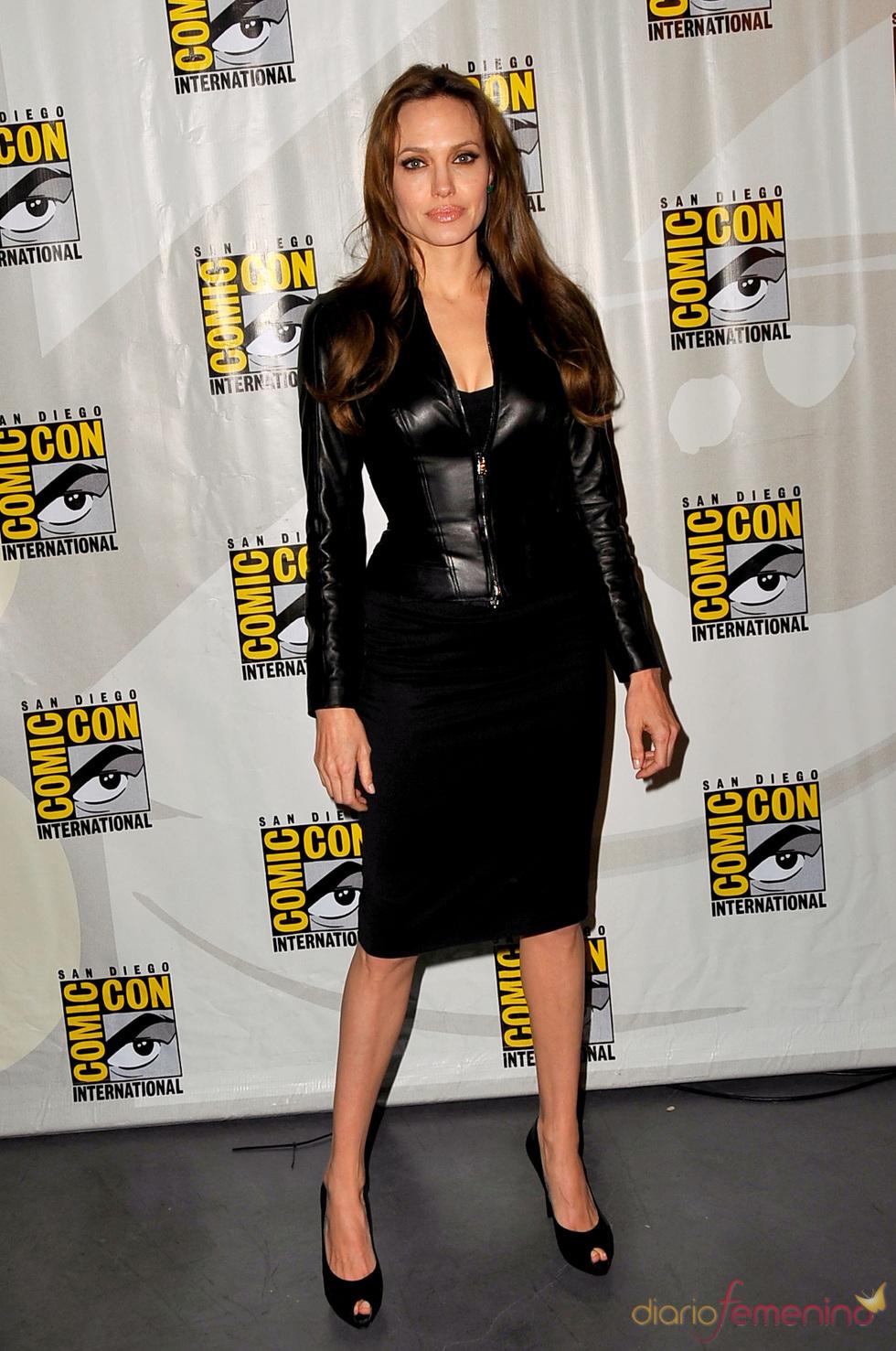 Angelina Jolie, una apasionada del cuero