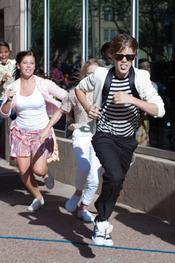 Justin Bieber perseguido por sus fans