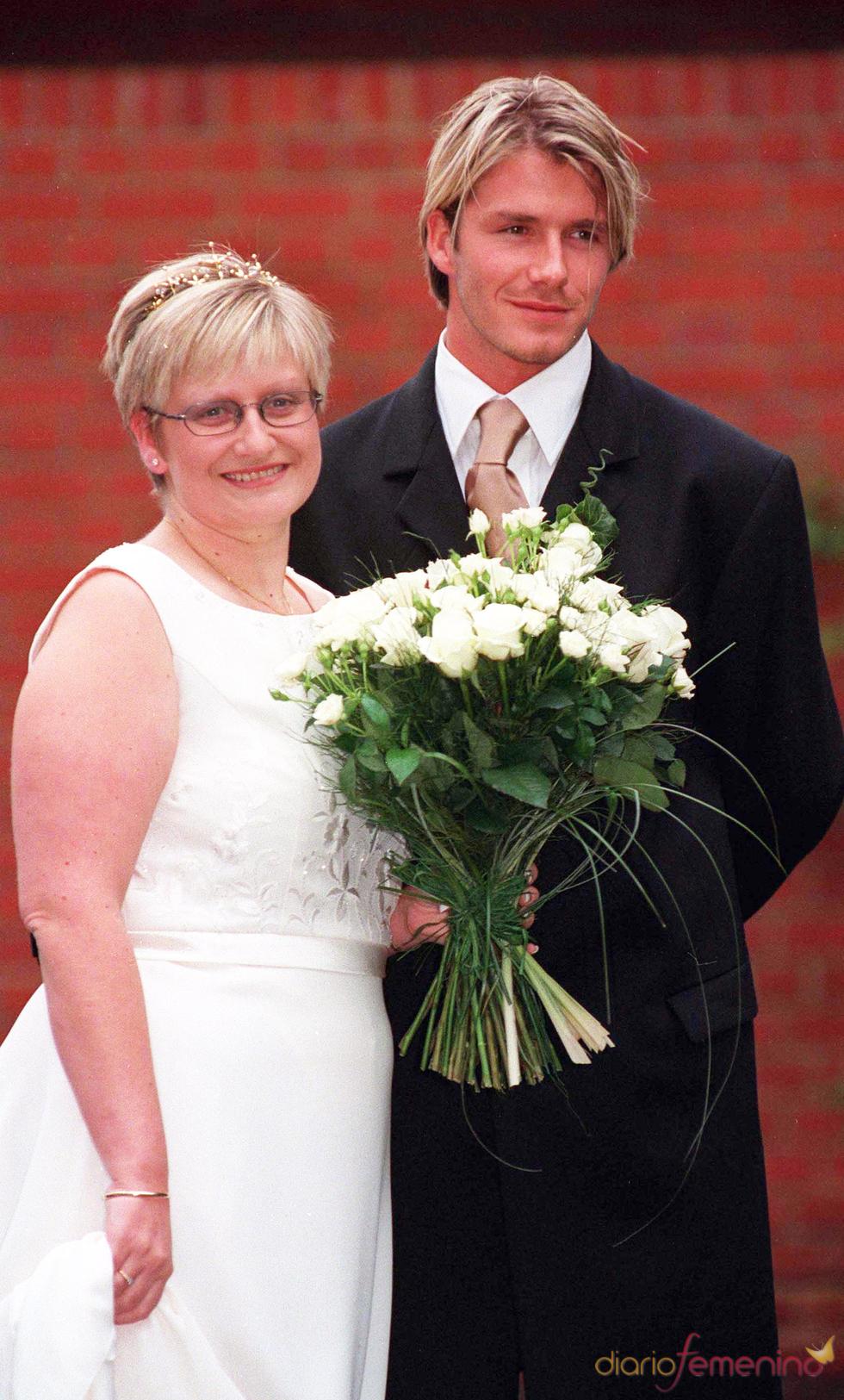 David Beckham junto a su hermana