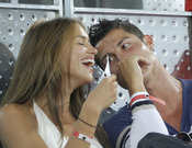 Cristiano Ronaldo e Irina Shayk, de risas