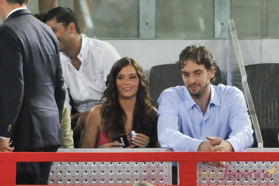 Pau Gasol y Silvia López en el baloncesto