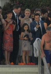 Anna Paquin en su boda con Stephen Moyer