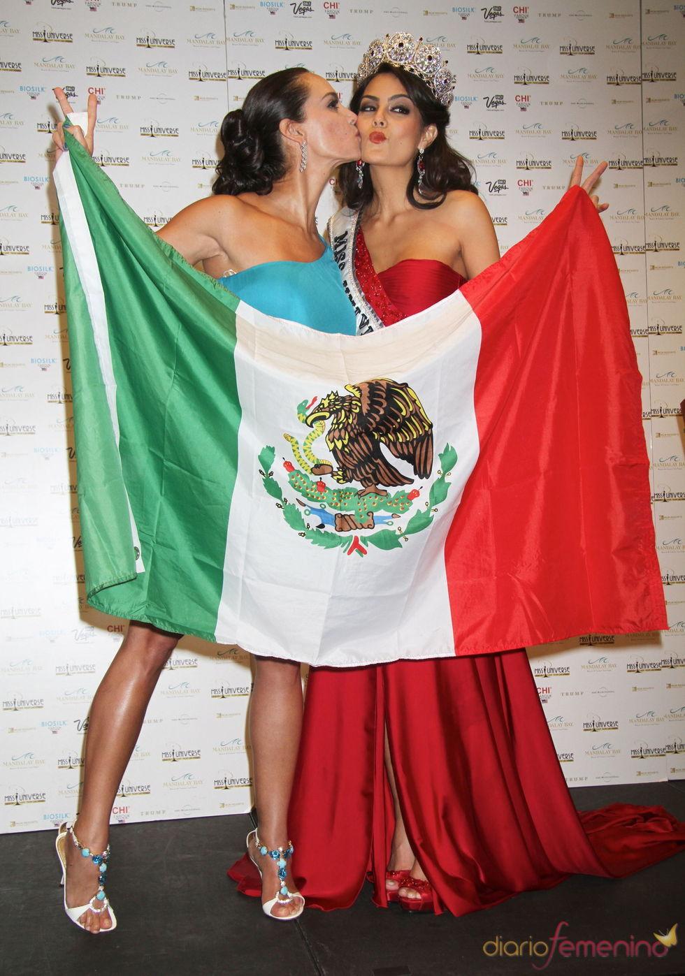 Jimena Navarrete y Lupita Jones, dos mexicanas Miss Universo