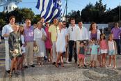 La familia real griega en los ensayos de la boda de Nicolás