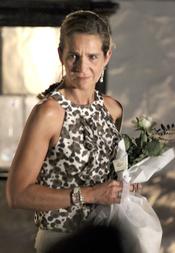 La Infanta Elena en la recepción de Nicolás de Grecia