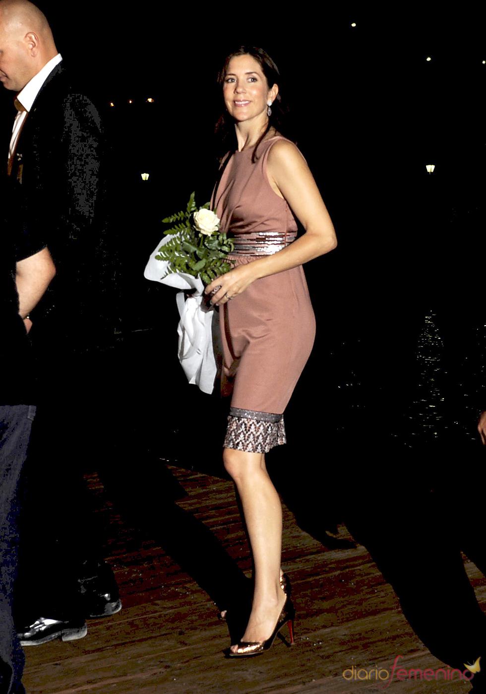 Mary Donaldson en la recepción de Nicolás de Grecia