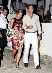 La Infanta Cristina e Iñaki Urdangarín  en la recepción de Nicolás de Grecia