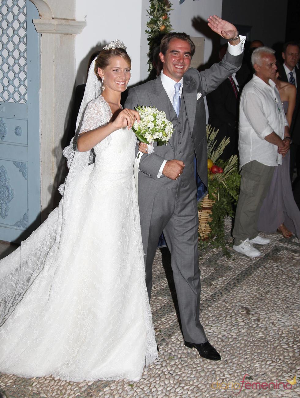 La boda real de Nicolás de Grecia y Tatiana Blatnik