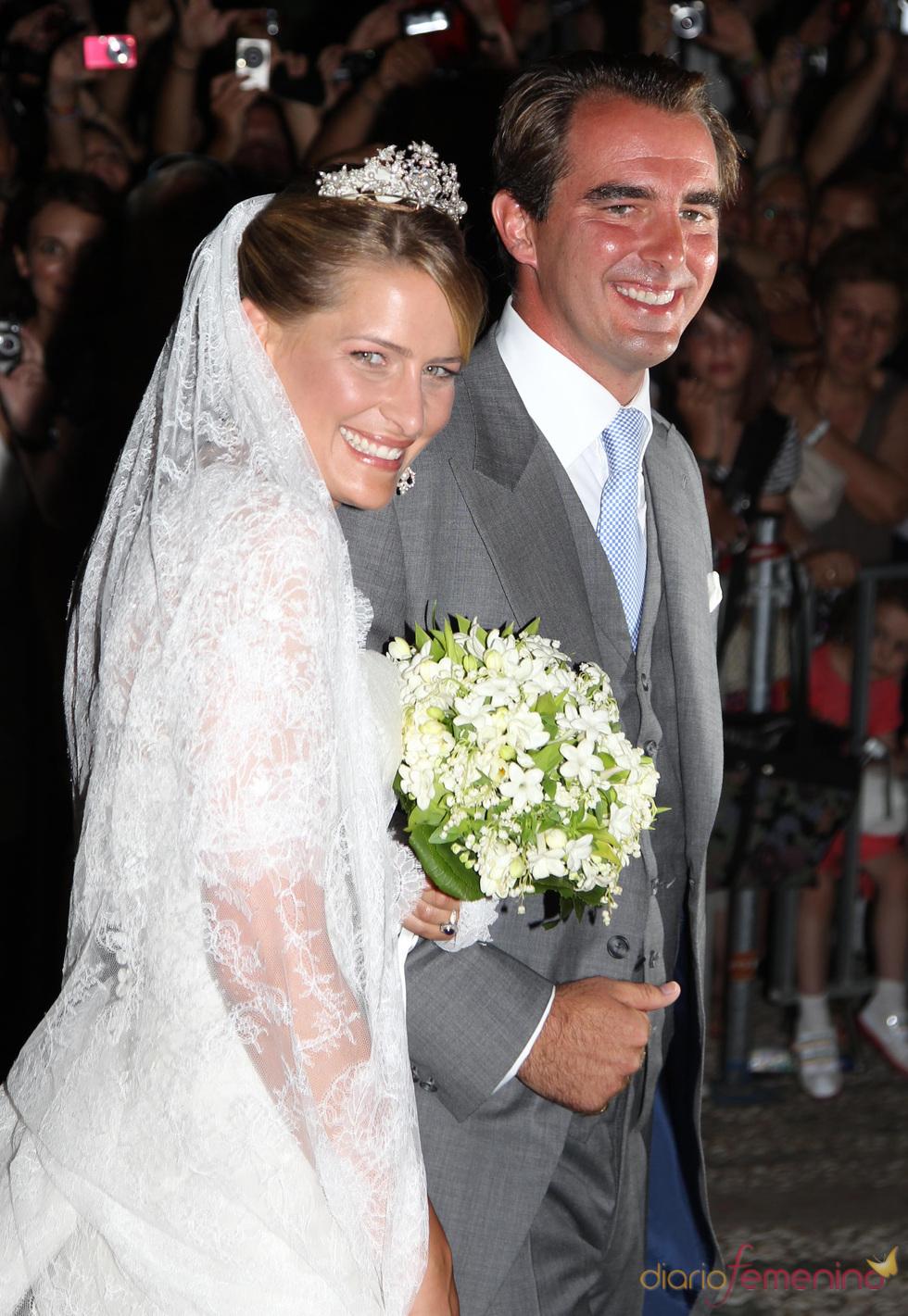 El vestido de novia de Tatiana Blatnik en la boda de Nicolás de Grecia