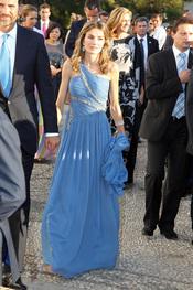La Princesa Letizia en la boda de Nicolás de Grecia