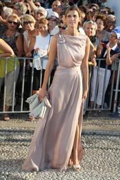 Rosario Nadal en la boda de Nicolás de Grecia