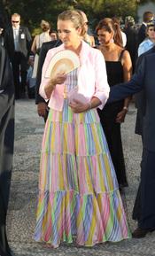 El vestido de la infanta Elena en la boda de Nicolás de Grecia
