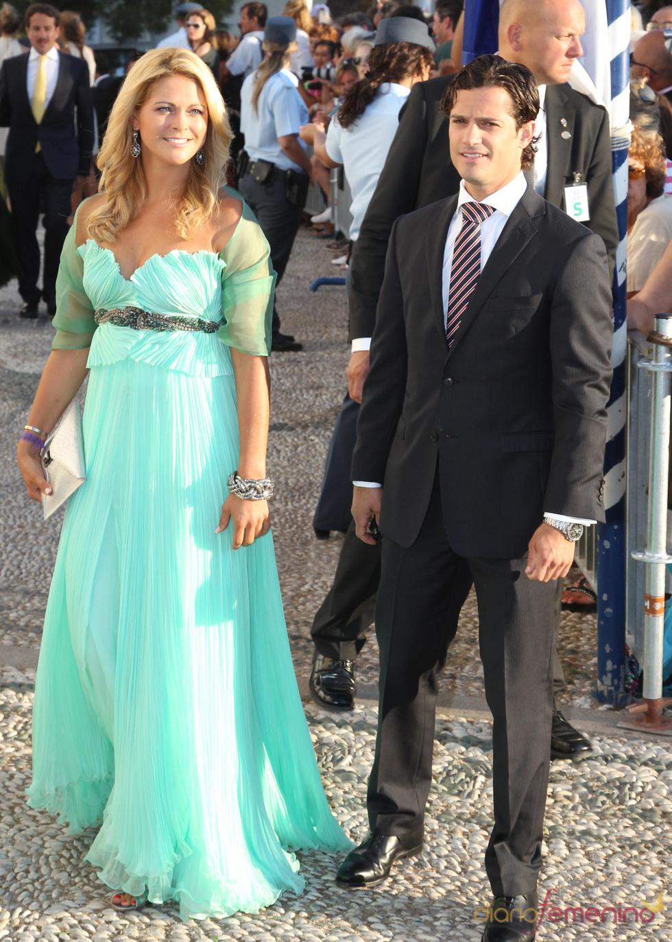 Magdalena de Suecia en la boda de Nicolás de Grecia