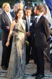 Mary Elizabeth de Dinamarca en la boda de Nicolás de Grecia