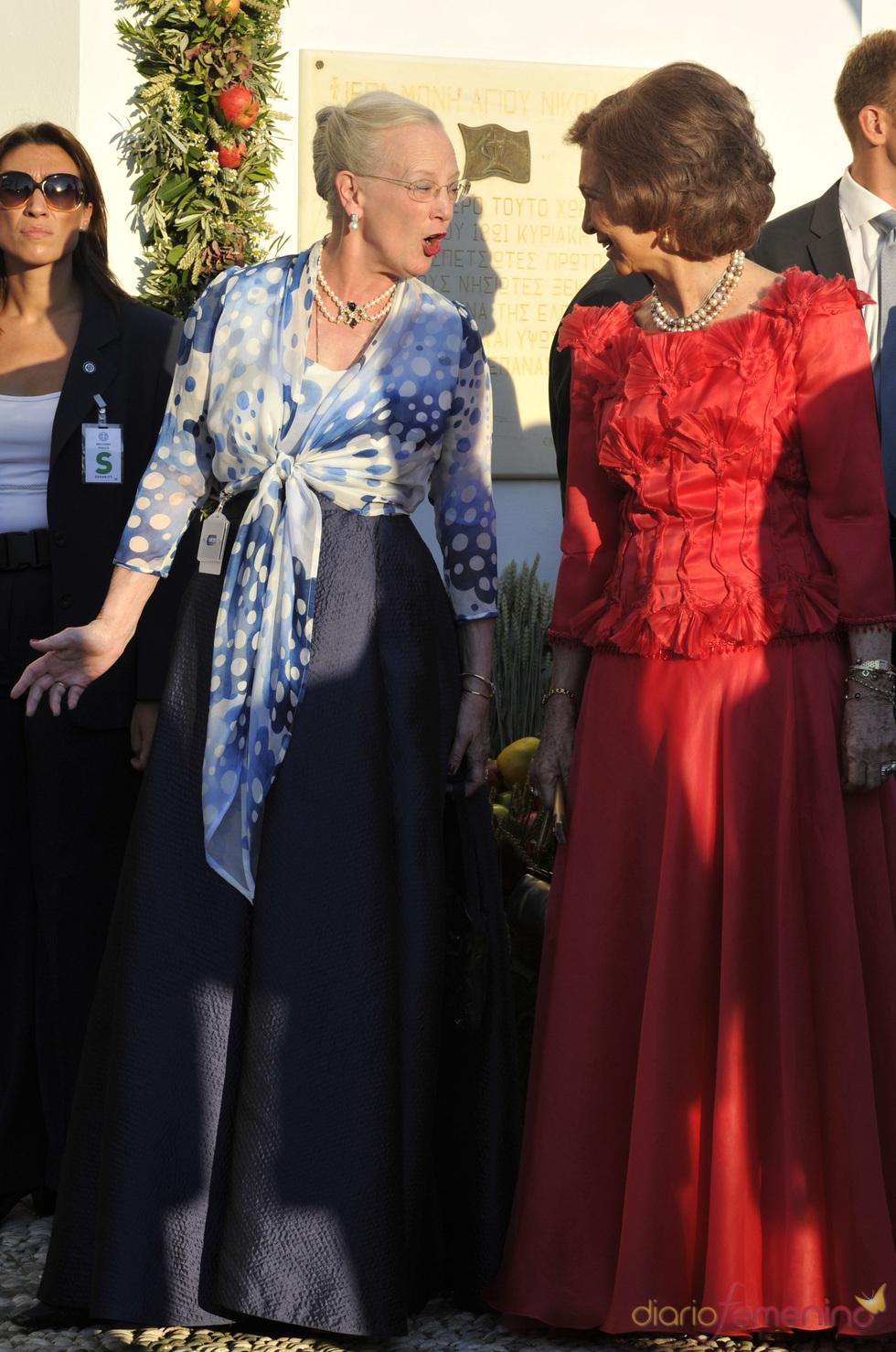 La Reina Sofía y la Reina Margaret de Dinamarca