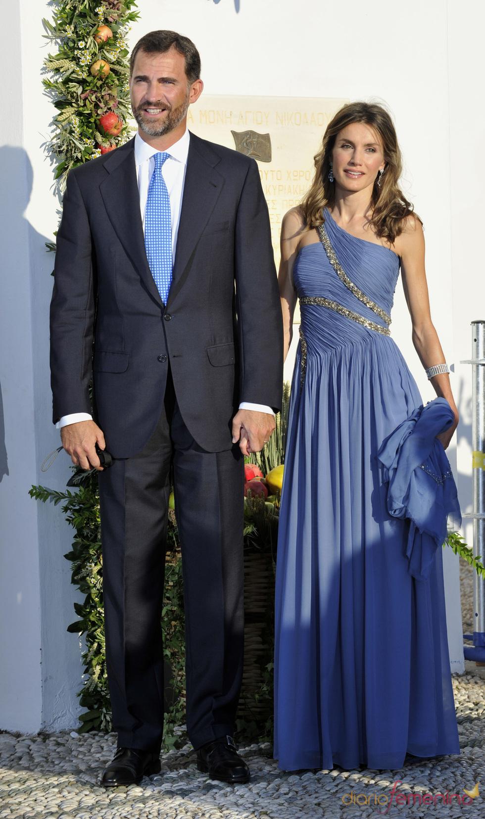 Los Príncipes de Asturias en la boda real griega