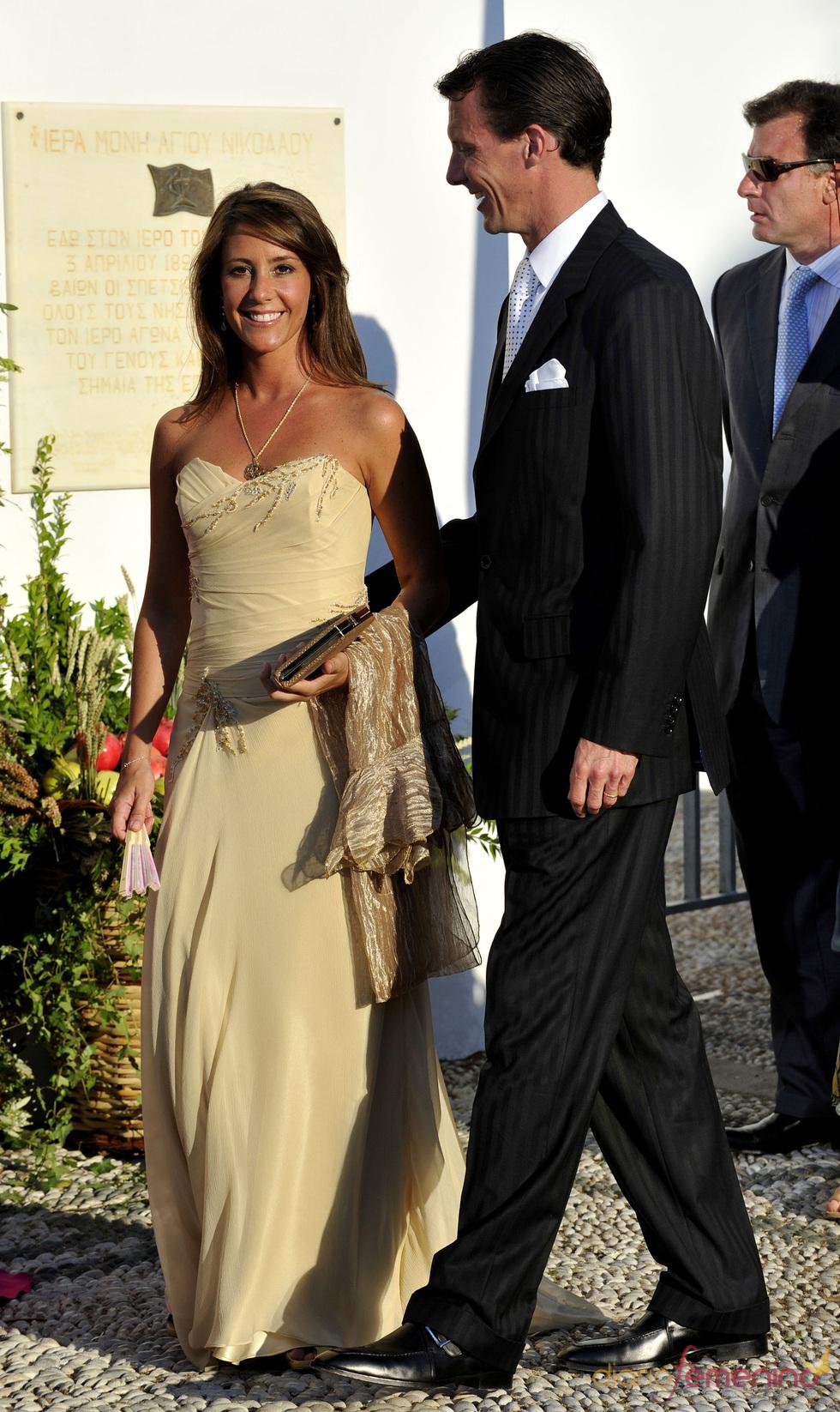 La Princesa Marie de Dinamarca en la boda real griega