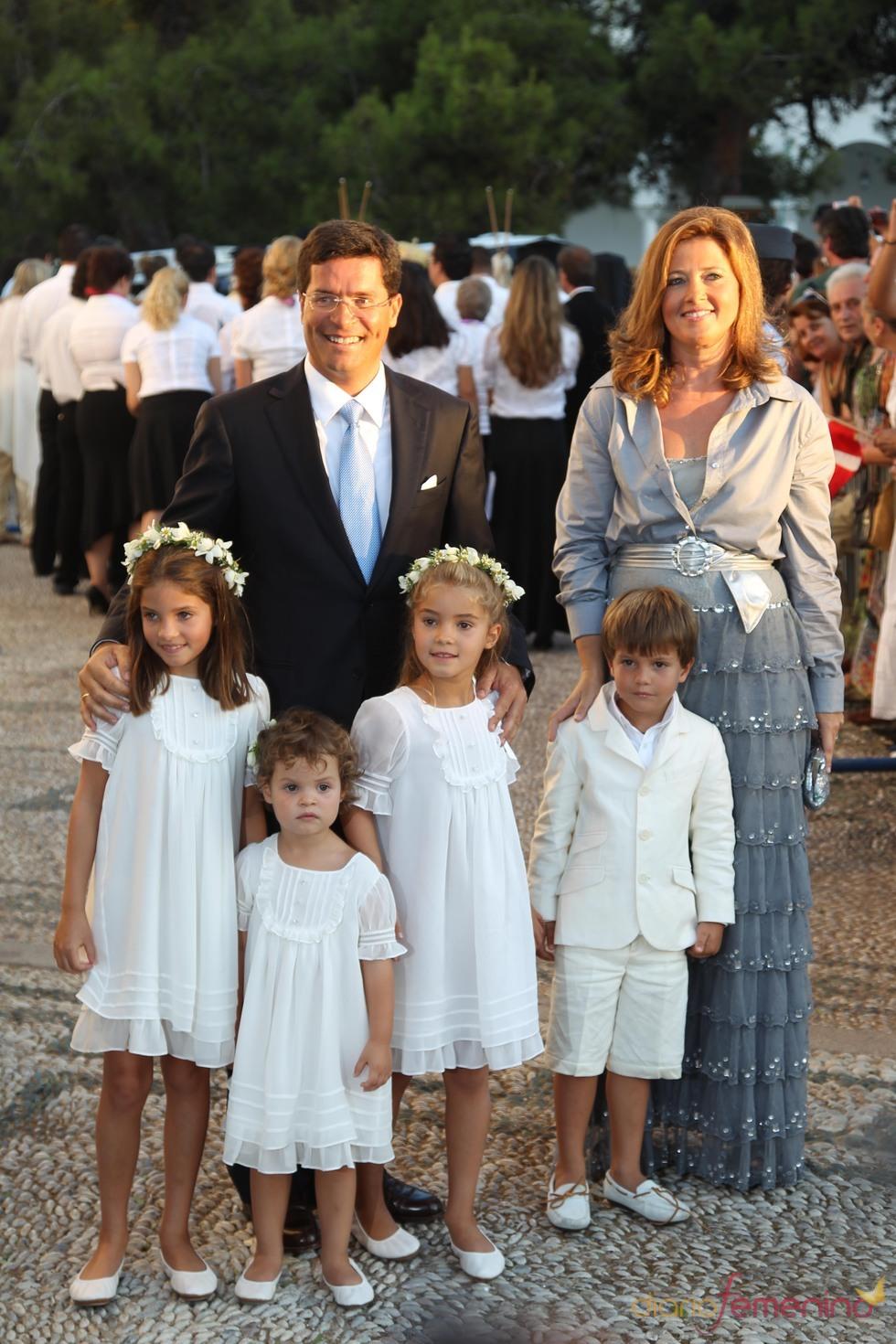 La familia de Alexia de Grecia se va de boda