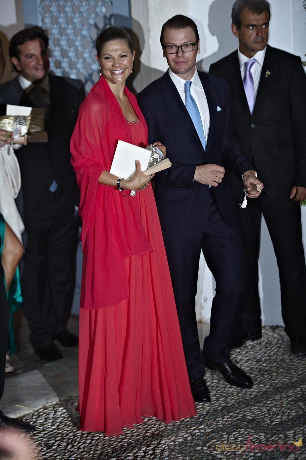 Victoria de Suecia y Daniel Westling en la gran boda griega